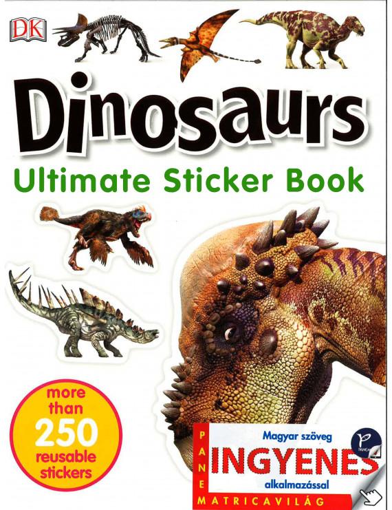 Dinosaurs matricavilág – angol nyelvű matricás foglalkoztató 1000Ft Iskolásoknak, felvételizőknek