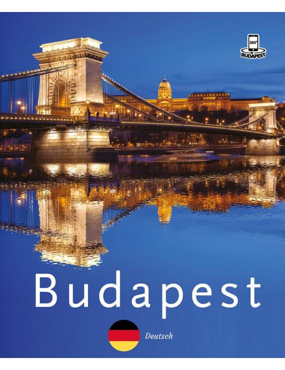 Budapest 360° útikalauz mobil alkalmazással – német 1920Ft Idegen nyelvű könyvek