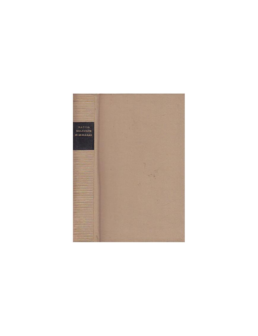 Magyar emlékírók 16-18. század 590Ft Antikvár könyvek