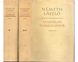 Németh László: Kiadatlan tanulmányok I-II 1900Ft Antikvár könyvek